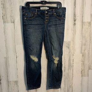 Torrid busted knee skinny jeans